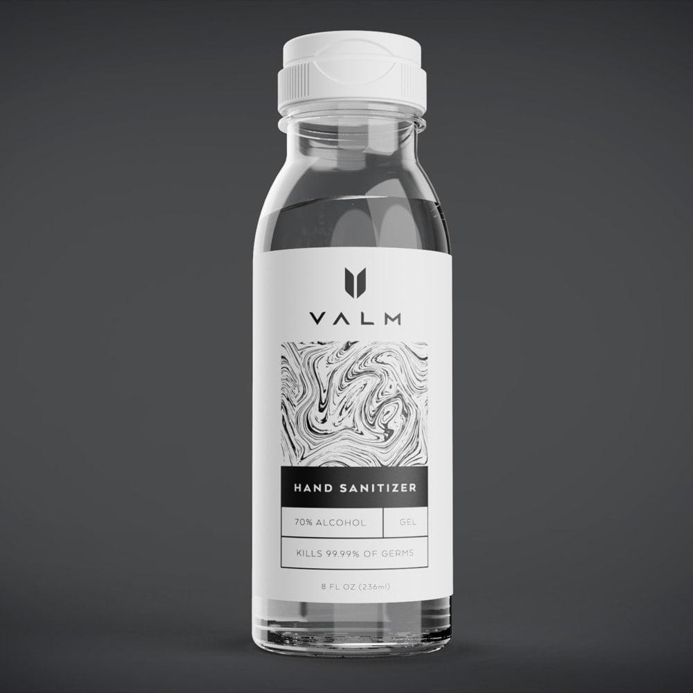 Valm Hand Sanitizer 70% Alcohol Gel 8oz